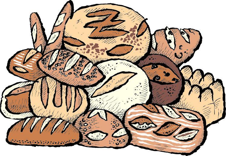 cartoon pile of bread